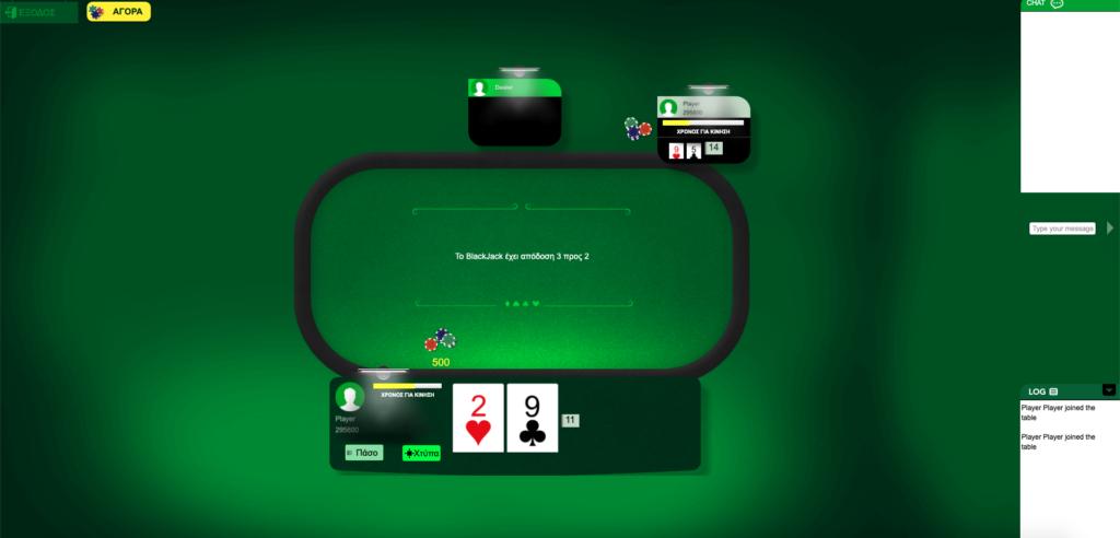 Blackjack: Παίζοντας το παιχνίδι