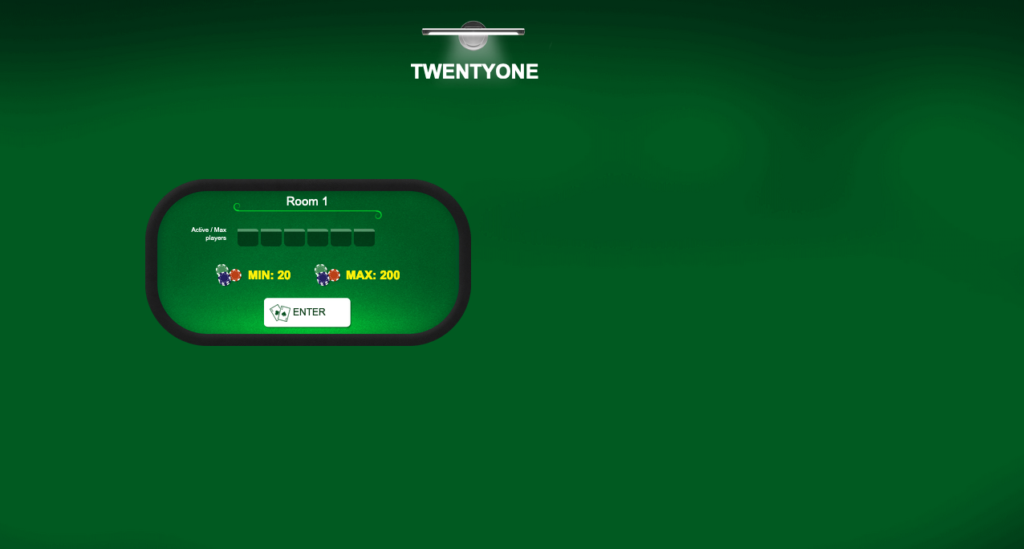 Twenty One: Screen of tables